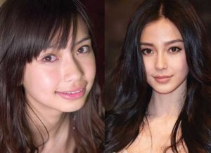 angelababy plastic surgery before and after photos