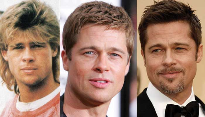 brad pitt plastic surgery before and after photos 2020