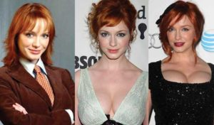 christina hendricks plastic surgery before and after photos
