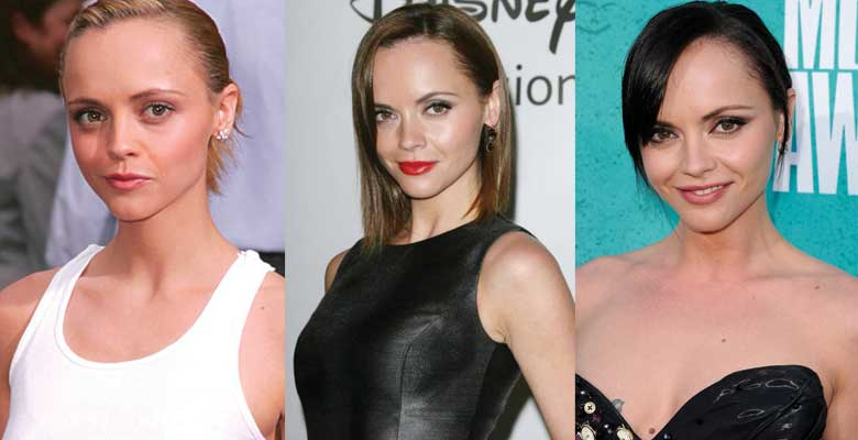 christina ricci plastic surgery before and after photos 2017