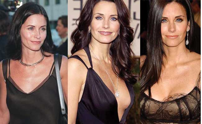 courteney cox plastic surgery before and after photos 2017