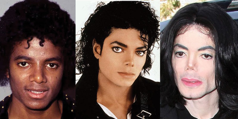 Michael Jackson Facial Transition